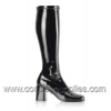 GOGO-300 Wide Calf Black Patent